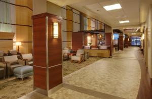 A hospital waiting room