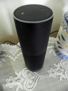 The sexy voiced Amazon Echo taunts me from the countertop. [Gretchen Lord Anderson photo]