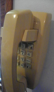 Not a rotary dial of old, but nearly obsolete all the same. We've hung on to this working phone for over 35 years.