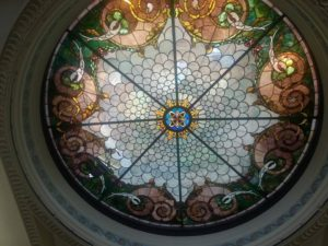 In the ceiling of the downtown St. Joseph, Mo., library (Gretchen Lord Anderson photo)